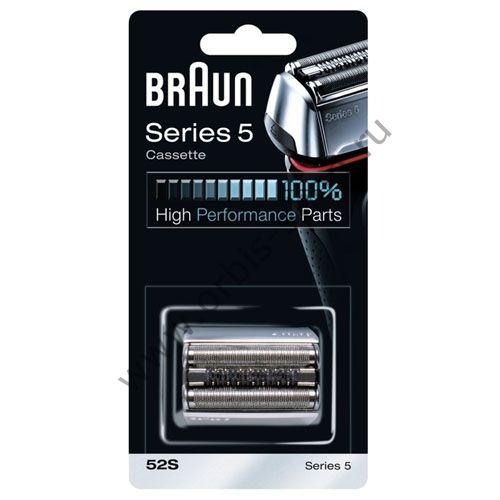 Бритвенная кассета для бритвы Braun 5 серии (52S) серебр.