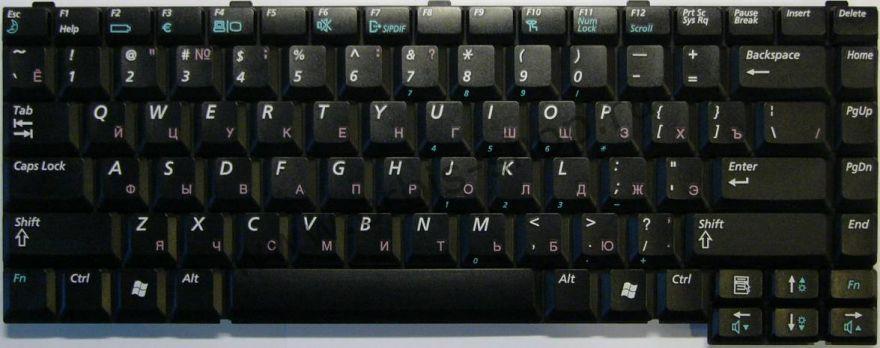 Клавиатура BA59-01214C для ноутбука Samsung