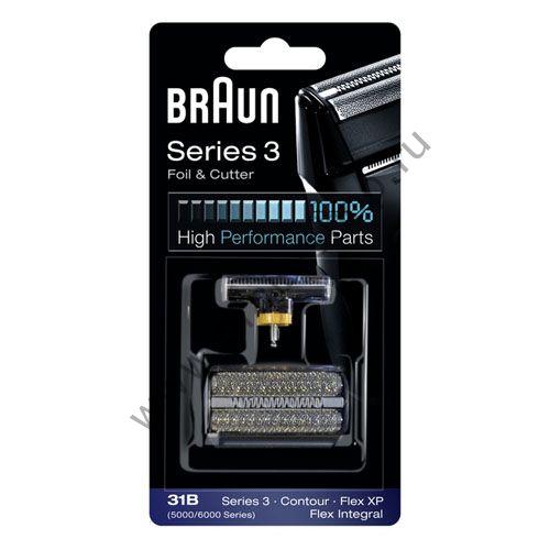 Сетка+режущий блок для бритвы Braun 5000/6000, 31B черная